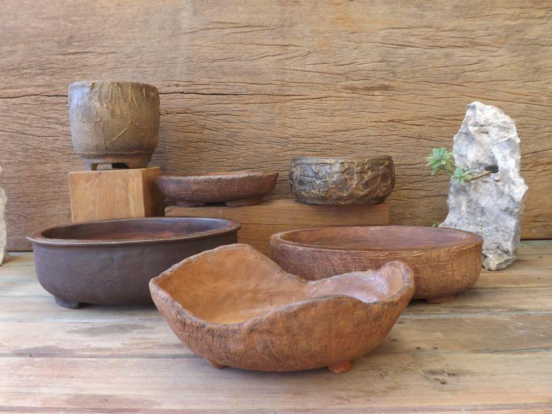 Cracked-Tree Bark pots